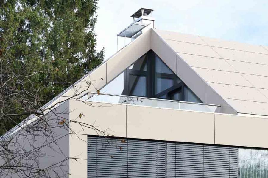 Haus am Westpark Dachansicht Tragwerksplanung München Teuteberg Ingenieure